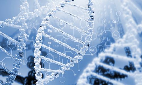 A cyber-like strand of DNA.